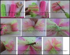 How to Make Tulle Puff Hair Bow Instructions - Tutorial