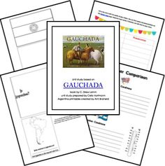 Gauchada Book and Lesson Themes from Homeschool Share South America Continent, Continents And Countries, Little Passports, Social Studies, Geography, Homeschooling, Spanish, Classroom, Study