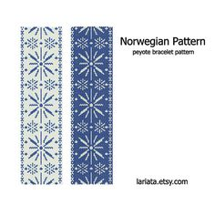Norwegian  The pattern measures 8.16 x 2.33 in. (20.7 x 5.9 cm) not including the closure.