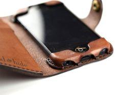 iPhone 4/4s Leather Wallet Case no plastic free por HANDandHIDE