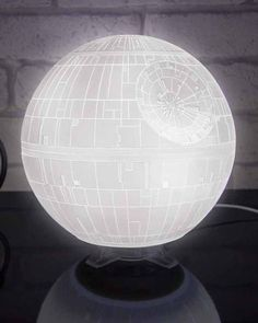 Death Star Mood Light has a three dimensional design and a textured surface that makes it as close to the real thing as you can get without the Empire building it for you!