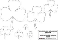 Free Printable Crafts Ideas Patterns | Shamrock Shape Template