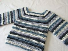How to crochet a basic sweater / jumper - any size - YouTube