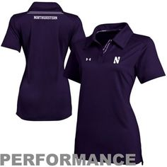 Under Armour Northwestern Wildcats Ladies Dominance Performance Polo - Purple