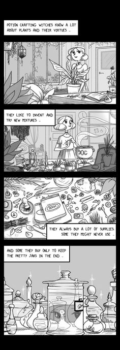 """modernwitchesdaily: """" Modern Witches Daily - Potion Crafting. Here is a new page ! (at last) It's about potion crafting witches and what I could read about their funny habits ~ And sometimes I relate myself to this sooo much ! I hope you'll like it !..."""