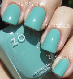 Zoya Summer 2012 Beach Collection -- Wednesday is a dusty turquoise creme with green undertones. Nail Polish Brands, Zoya Nail Polish, Shellac Nails, Nail Polish Colors, Manicure, Nail Polishes, Cute Nails, Pretty Nails, Hair And Nails