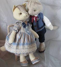 Счастливая пара скоро обретёт свой новый дом))💕#кот #Veselynka #textiledoll #handmade #пара #падарок