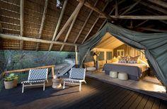 A tent deck