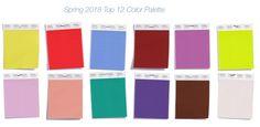 Самые модные цвета весна-лето 2018 — PANTONE Fashion Color Report Spring 2018 -