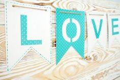 Гирлянда Love из бумаги своими руками