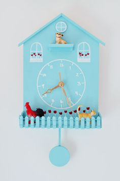 Weekly Crafty: Getting Clocked | Young House Love, super cute clock diy that I think the kids would love to do.