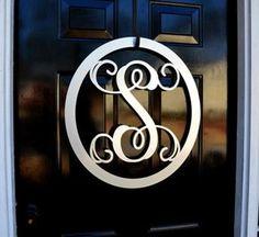 Handmade Chic Metal Monogram Letter, Monogram Wreath, Door Hanger Monogram, Metal Monogram Letter, O