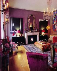 Purple Living Room I think. but what do I do about my all white apartment walls? entire walls full of pictures! but what do I do about my all white apartment walls? entire walls full of pictures! Bohemian Living Rooms, Living Room Interior, Living Room Decor, Bedroom Decor, Boho Room, Purple Bohemian Bedroom, Jewel Tone Bedroom, Bohemian Bedrooms, Gothic Bedroom