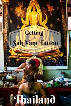 The Sak Yant tattoo is an ancient and sacred tradition in Thailand and it is said to contain magic incantations that protect and benefit the wearer. Many people go to Thailand for a Sak Yant and come away with a simple bamboo tattoo from a shop or risk a dirty needle at one of the temples. We researched and found a way to get a traditional and hygenic Sak Yant in Thailand. Click through for our story.
