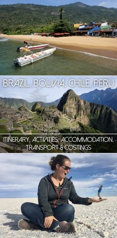 Your guide to South America - Brazil, Bolivia, Chile & Peru.  Accommodation, transport, activities and costings for everything from Machu Picchu to the Death Road.  The Salt Flats to the beaches of Brazil.