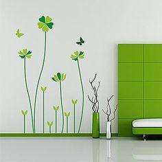 Createforlife+®+Green+Liefde+Hart+van+het+Blad+Kids+Kinderkamer+Muurstickers+Wall+Art+Decals +–+EUR+€+13.63