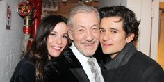 Lord of the Rings Lovefest! Liv Tyler & Orlando Bloom Cheer on Ian McKellen Backstage at Waiting For Godot Handsome Boy Photo, Handsome Boys, Liv Tyler, Sir Ian Mckellen, Lotr Cast, The Hobbit Movies, Lotr Movies, Luke Evans, Lord