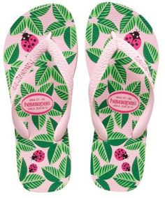 Amazon.com: Havaianas Flip Flops Slippers * Garden Ladybug -- Light Rose * New 08 US 7/8 * 08 Newest Collection - We Have Large Selections! *: Shoes