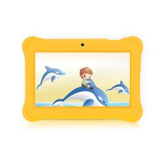 iRULU BabyPad Y1 7 Inch Android Tablet for Kids, with Games, Dual Cameras, Wi-Fi, Google Play Store, Children World, 1024*600 HD Resolution, 1GB RAM, 8GB Nand Flash (Yellow). Specially designed for kids; with hundreds of free applications for learning and playing; there are 5 areas for the child to choose from within the pre-installed Children World app: App Box, Media, Games, e-Book, Painting and Notes. Quad Core Processor 1.3GHZ, Google Android 4.4 KitKat operating system, offers high...