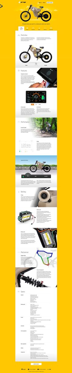 I really like this site within a site layout with all main content as one-page design