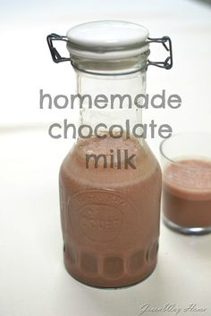 Homemade Chocolate milk 3 cups of milk {of your choice} 3 Tbsp of cocoa powder 2-3 Tbsp of agave syrup 2 tsp of vanilla extract