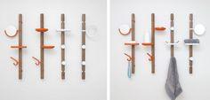 Descubre este asombroso colgador de madera, una idea funcional y de estilo minimalista.