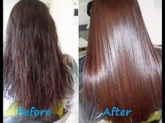 DIY How to Get Smooth,Silky hair at Home -Get Thick Hair and Prevent Hair Loss - YouTube