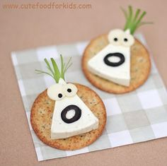 Cute Food For Kids?: Cheese Monsters