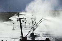 Making snow for the skiing and snowboarding enthusiasts Mountain Resort Mountain Resort S Ki Photo, Snowboarding, Skiing, Ski Card, Ski Wedding, Ski Accessories, Ski Posters, Ski Slopes, Ski Lift