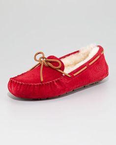 ShopStyle.com: UGG Australia Dakota Shearling Tie-Slipper $100.00