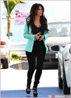 Mint blazer outfit love this ugh i love that color