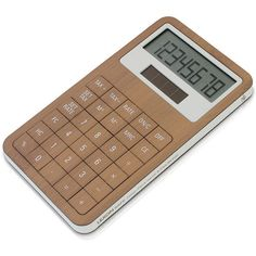 Lexon Safe Dual Power Calculator - Bamboo/White (109.685 COP) ❤ liked on Polyvore featuring home, home decor, office accessories, office, filler, neutral, solar power calculator and solar calculator