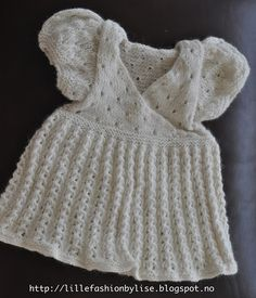 knitted babydress lillefashion.by.lise Fashion, Moda, Fashion Styles, Fashion Illustrations