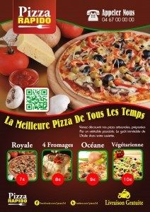 Pizza Flyer | Flyer-Vorlage | Pinterest | Fonts