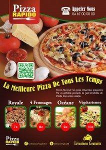 Flyer pizzeria par Clicali.com http://clicali.com/communication-print/ #pizza #print #flyer #pizzeria www.clicali.com