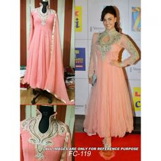 Shop Bollywood Replica - Elli Avram Beautiful Georgette Anarkali Suit - Fc-119 by Sdfashions online. Largest collection of Latest Salwar Suits online. ✻ 100% Genuine Products ✻ Easy Returns ✻ Timely Delivery