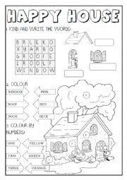 English worksheet: Happy House