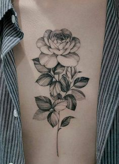 Flower Drawing Discover Image about black in Tattoos by Luna on We Heart It Discovered by Aɭɭ Tɧҽ Lɷѵҽ. Find images and videos about black art and flowers on We Heart It - the app to get lost in what you love. Peony Flower Tattoos, Flower Thigh Tattoos, Peonies Tattoo, Rose Tattoos, Dream Tattoos, Girl Tattoos, Ojo Tattoo, Special Tattoos, Tattoo Now