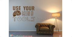 Use Your Mindtool Vinyl Wall Sticker Vinyl Decals Wall Art Transfers-Removable