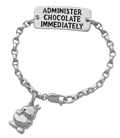Chocolate Med-Alert Bracelet