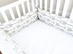 Cute crib bumpers- DIY - arrows and aztec