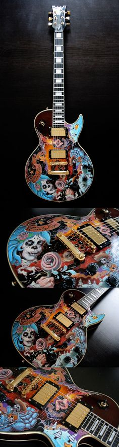 Nouvelle Guitare Custom by Jef. reminds me of the greatful dead