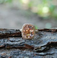 Peach sapphires. Beautiful.