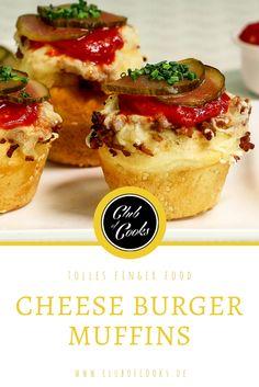 Diese Cheeseburger Muffins sind eine leckere Fingerfood-Alternative zum herkömmlichen Cheeseburger und eignen sich hervorragend für Party, Brunch und Picknick. Und außerdem schmecken sie sowohl warm als auch kalt.