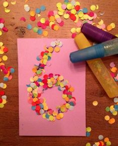 Coming soon a children's party? 8 funny and original ideas for the invitations … - Diy Gifts Ideas Kids Crafts, Diy And Crafts, Diy Birthday Invitations, Birthday Cards, Art Birthday, Birthday Ideas, Childrens Party, Homemade Cards, Diy For Kids