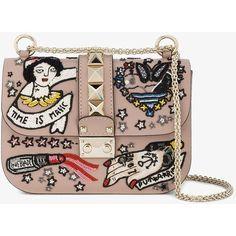Valentino Medium Tattoo Box Bag (€2.605) ❤ liked on Polyvore featuring bags, handbags, shoulder bags, clasp handbag, valentino purses, chain strap purse, multi colored purses and colorful handbags