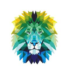 The Lion geometric PDF Cross Stitch Pattern No90   This is a digital item. The PDF file of the pattern will be available for instant download once payment is confirmed. Instant Digital Download: 2ZIP = 5 PDF files included. You can use the best of you.  If you like 3 in 1 set, please click here: https://www.etsy.com/listing/517462961/animals-set-3-in-1-geometric-cross?ref=shop_home_active_1   You can find more animal patterns here: https://www.etsy...