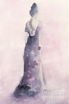 Purple and Pink Evening Dress Watecolor Fashion Illustration Art Print by Beverly Brown Prints. All prints are professionally printed, packaged, and shipped within 3 - 4 business days. Choose from multiple sizes and hundreds of frame and mat options. Watercolor Fashion, Fashion Painting, Watercolor Print, Watercolor Paintings, Watercolor Tips, Watercolor Projects, Watercolors, Pink Evening Dress, Thing 1
