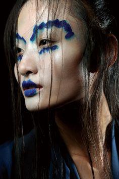 Vivienne Westwood Spring 2012 - more #bluemakeup on Anything-blue.com