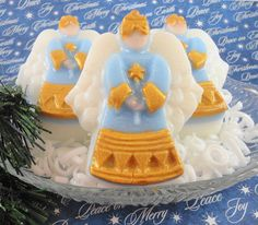 Christmas Soap  Blue Angel Pure Glycerin Soap  by SoapGarden $5.50